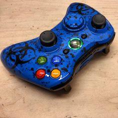 BioSplatter Xbox 360 Controller - KwikBoy Modz  #customcontroller #biohazard #xbox360controller #xbox360  http://www.kwikboymodz.com/biosplatter-xbox-360-controller/