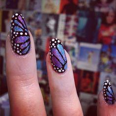 Butterfly nails by WAH gal Rae! #wahnails #nailart