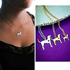 Bloodhound Dog Necklace - Sleuth - IBD - Personalize with Name or Date - Choose Chain Length - Pendant Size Options - Sterling Silver 14K Rose Gold Filled Charm - Ships in 2 Business Days