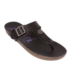 The Blowfish Greco slip-on sandal that goes perfect with your favorite skinny jeans or dress! With an adjustable buckle and Blowfish button, this is a perfect sandal for your laid back days!