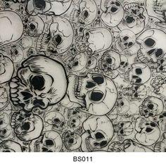 Hydrographics film skull pattern BS011