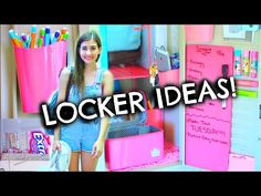 Back To School Locker Organization & DIY Decorations | Tumblr Inspired! - YouTube
