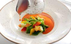 Carrot Avocado Gazpacho, by Jeremy Bearman, executive chef of The Restaurant at Malliouhana in Anguilla
