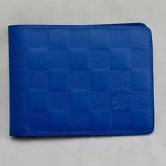 d93739ab4e0a Authentic-Louis-Vuitton-Men-039-s-Blue-Infini-Leather-Slender-Damier-Wallet -NR