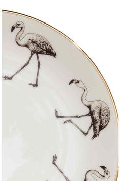 Porcelanowy talerz z nadrukiem: Porcelanowy talerz z nadrukiem. Średnica 20,5 cm.
