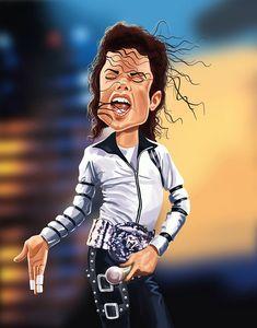 Caricatura de Michael Jackson.