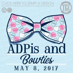Alpha Delta Pi | ΑΔΠ | ADPis and Bowties | Spring Formal | Formal Shirt | TGI Greek | Greek Apparel | Custom Apparel | Sorority Tee Shirts | Sorority T-shirts | Custom T-Shirts
