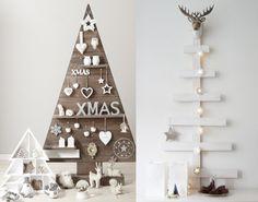sapin de noel en bois DIY blanc original scandinave nordique 12 inspirations pour un sapin de Noël en bois