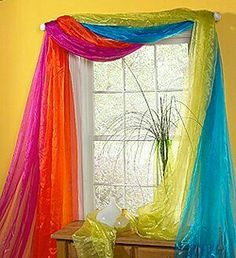 Fun, unique and creative theme bedroom design ideas for kids, teens and adults Rainbow Curtains, Rainbow Bedding, Rainbow Bedroom, Colorful Curtains, Colorful Decor, Bedroom Themes, Kids Bedroom, Bedroom Decor, Bedroom Ideas
