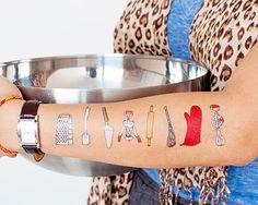 Algunos son tan cocinillas que llevan su pasión tatuada en el brazo