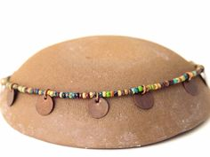 NEW Bohemian Anklet Boho Anklet Boho Picasso Anklet with Copper Discs by AlliecatDesignStudio on Etsy