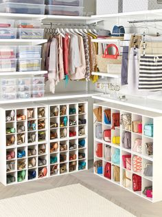Modern closet - shoes and bags organization.