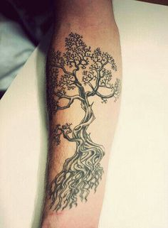 Tree tattoo, via Tracy Fox.