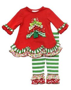 9c609c721532 The Rare Editions Girls Toddler Christmas Legging Set has two piece - dress  and legging. This rare editions toddler clothing features solid red knit top