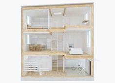 Das vertikale Haus von Muji soll alles bieten, auf kleinstem Platz und erst noch stilsicher.