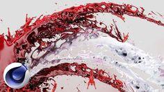 Брызги крови в 3D (Cinema 4D, RealFlow).