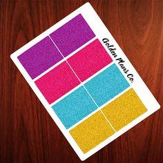 Glitter Full Boxes PLANNER STICKERS |Perfect For your Erin Condren, Filofax , Kiki K, Plum Paper, Carpe Diem and other planner