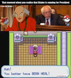 #Bernie #Blaine #Pokemon