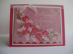 Elegant Rose Birthday by DCinkit - Cards and Paper Crafts at Splitcoaststampers