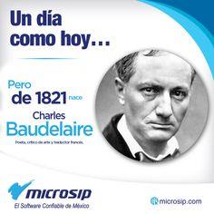 Un día como hoy 9 de abril, pero de 1821 nace Charles Baudelaire, poeta, crítico de arte y traductor francés.