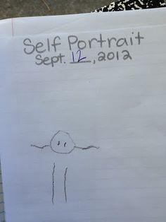 preschool journal - self portrait