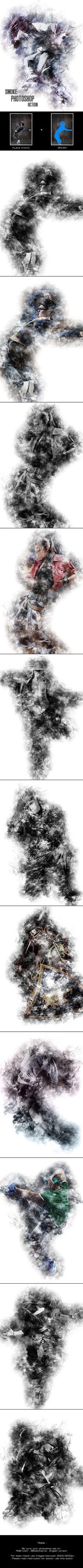 Smoke - Photoshop Action #photoeffect Download: http://graphicriver.net/item/smoke-photoshop-action/12875547?ref=ksioks