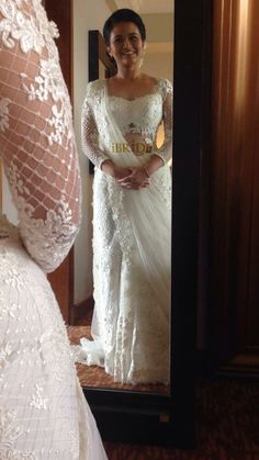 White Saree Wedding, Christian Wedding Sarees, Indian Wedding Sari, Bridal Sari, Asian Wedding Dress, White Bridal, Wedding Gowns, Indian Bridesmaid Dresses, Bridal Dresses