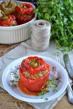 kuchnia na obcasach: Papryka faszerowana mięsem mielonym i ryżem