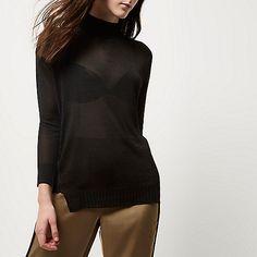 http://www.riverisland.com/women/knitwear/knitted-tops/black-sheer-knit-turtleneck-top-691032