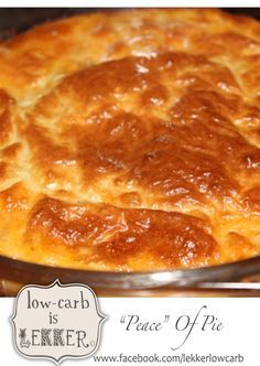 Words cannot justify so much awesomeness... We low-carbers have finally made, wait for it... PIE!