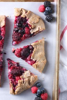 Triple Berry Cream Cheese Crostata Recipe from A Kitchen Addiction @akitchenaddict
