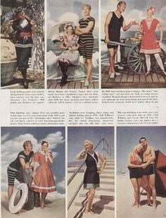 Pictorial History of THE Bathing Suit  by cemetarian, via Flickr