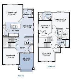 The Harvard III floor plan is 1478 sq. ft. in total with 811 sq. ft. on the main floor and 667 sq. ft. on the upper floor.