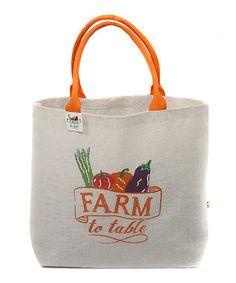 Look at this #zulilyfind! 'Farm to Taste' Icon Jute Tote by Dennis East International #zulilyfinds