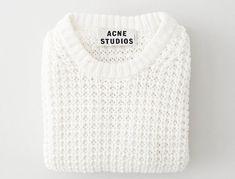 Style - Minimal + Classic: White Acne Sweater