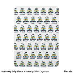 Ice Hockey Baby Fleece Blanket
