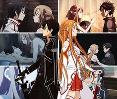 Kirito and Asuna - Sword Art Online <3