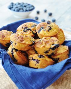 Crispy Vegan Corn and Blueberry Muffins