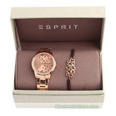 Esprit Aimee Dazzle Rose Gold Gift Set ref. number ES107312004