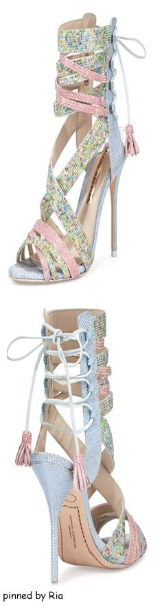 Sophia Webster l Adeline Dreamy Crystal Lace Up Sandal l Spring 2016 l Ria