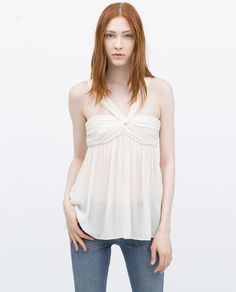 Image 1 of DRAPED TOP WITH HALTER NECK from Zara