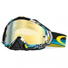 f4fc81ed04 Oakley Mayhem Goggles in Legacy Blue 24k Iridium part of the huge Motocross  Over Glass Goggle