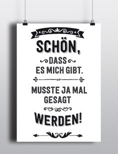 Typo poster with funny saying: Art print for your home / print with funny statem. - Places to Visit - Typo poster with funny saying: Art print for your home / print with funny statement made by RTF * P - The Words, Typo Poster, Poster Print, Art Print, Best Quotes, Funny Quotes, Quotation Marks, Magic Words, Statements