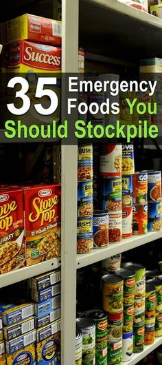 Here you'll find a list of 35 emergency foods you should be stockpiling. With all of these foods on hand, you'll be eating well no matter what happens.