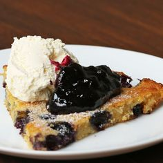 Blueberry Oven Pancake Recipe by Tasty