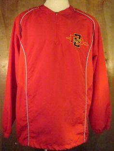 Nike Dri Fit Mens Lightweight Pullover Jacket Red Sz Large South Dakota State  #NikeDriFit #CoatsJackets