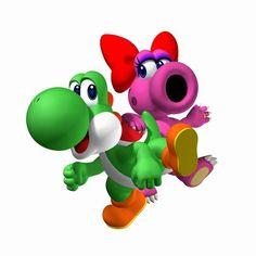 Yoshi Girlie Gamer Fun Konsole Super Mario Luigi Yoshi Wario Koopa Bowser Wario