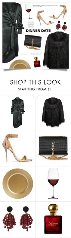 """Me And Him"" by marina-volaric ❤ liked on Polyvore featuring Yves Saint Laurent, Unreal Fur, Balmain, Nachtmann, Marni and Ralph Lauren"