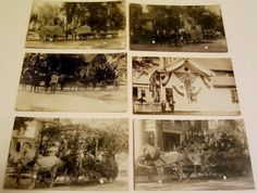 EARLY-1900s-4th-of-July-Parade-Nenamesek-144-Order-of-Red-Men-Ware-MA-Postcard