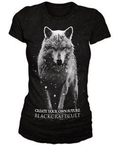 Lone Wolf - Women's Tee | Black Craft